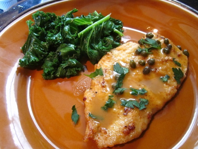 chicken piccata, easy chicken cutlet, chicken italian